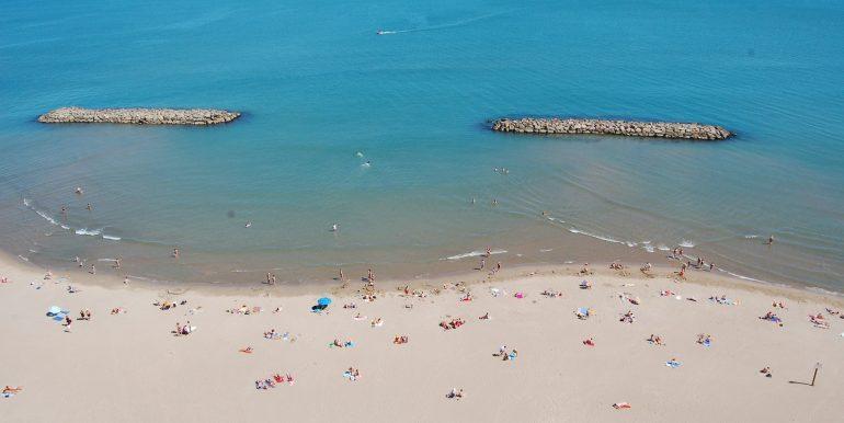 mini-plage de Valras
