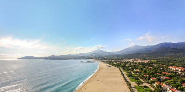 plage et promenade d'Argeles